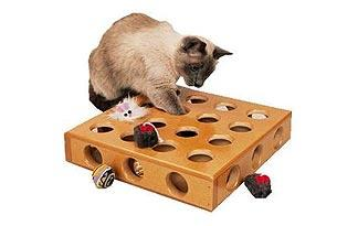 3. For the Stalker: Peek-a-Prize Interactive Cat Toy