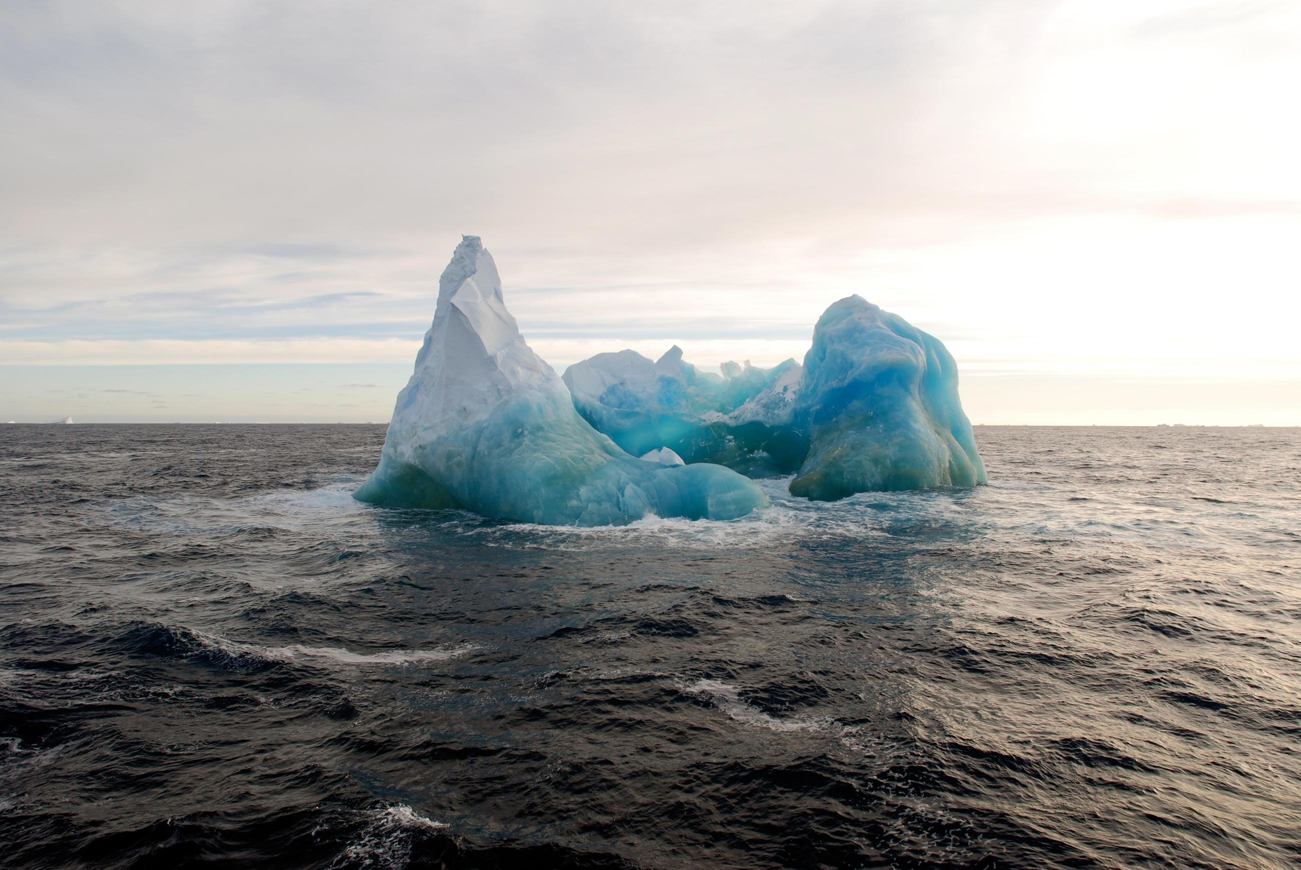 Open Ocean with Iceberg