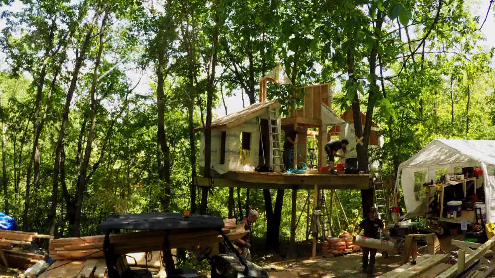 Behind the Design: Grace Vanderwall's Treehouse | Treehouse Masters on strange houses, fairy houses, tiny houses, amazing flowers, amazing treehouse homes, amazing mansions, unusual houses, cool houses, amazing trucks, amazing hotels, amazing bathrooms, amazing pools, amazing architecture, amazing treehouses of the world, prettiest houses, amazing kitchens, amazing chairs, crazy houses, awesome houses, goat houses,