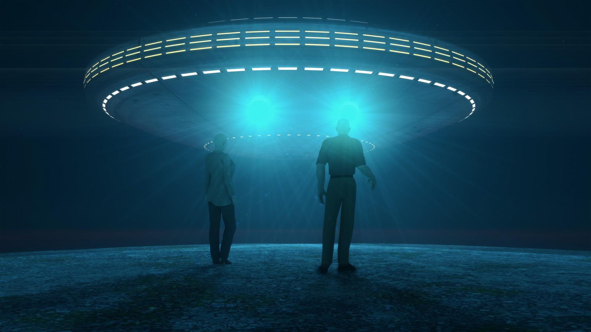 Ufo attacking and abducting