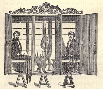 The seance cabinet of the Davenport brothers