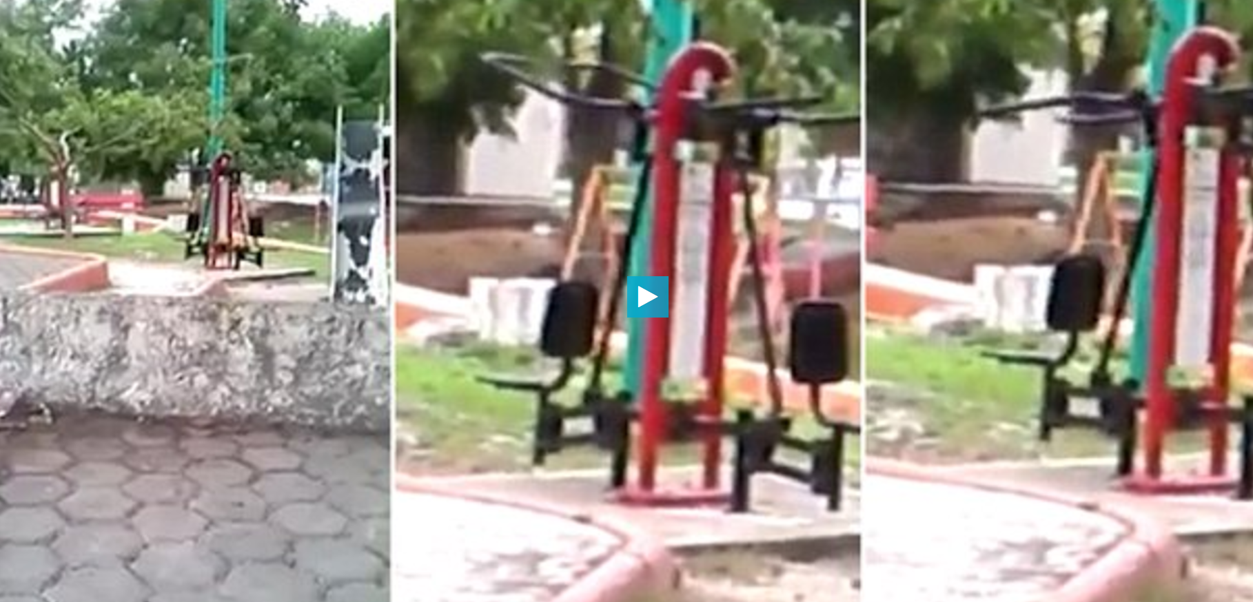 Gym at a park in Cancun that may have a ghost