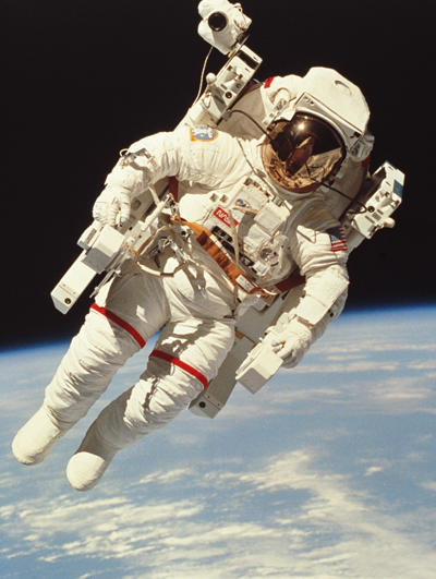 Imagine being out in space, untethered to anything...sound pretty cool? Actually, most spacewalks keep astronauts tethered to the ship.