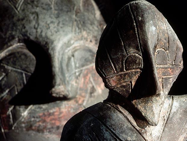 Is this the face of a god, of a ghost, or of an ordinary man or woman? Whatever the case, archaeologists date these Vinca sculptures to sometime between 4500 and 3500 B.C. Next, you'll see an extremely complex ancient machine that seems to defy explanation.