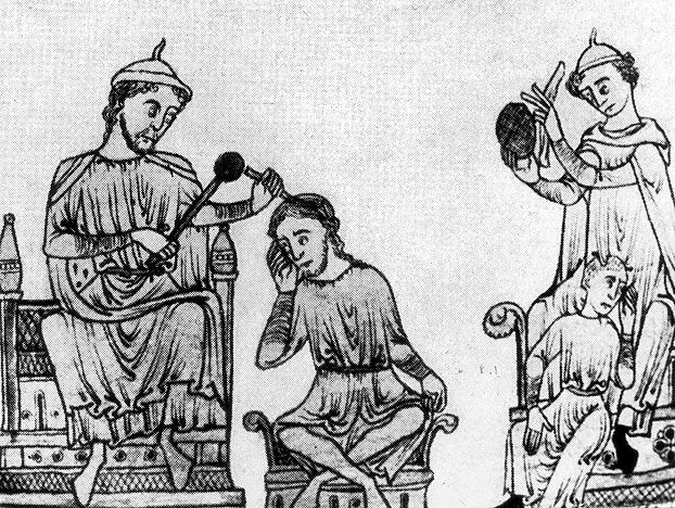 This is a 16th century illustration of trepanning -- the process of drilling a hole into the skull of a live human being. Though there are to this day several real reasons a doctor might need to remove part of the skull (often to access the brain for surgery), in the ancient and medieval world, trepanning was mostly a false cure, designed to relieve mental illness by allowing demons and other baleful spirits to evaporate from the cranium through the hole. The example of trepanning allows us to make an interesting distinction about quack medicine: The practitioner doesn't have to be a conscious fraud. While some cynical medieval profiteers probably employed the surgery knowing full well that it was not effective, it's clear that many others sincerely believed in the efficacy of trepanning. They really were trying to help -- they were just wrong.