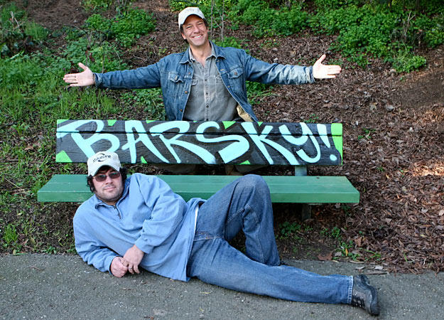 While shooting a special looking back on Mike Rowe's 200 jobs, Dave Barsky and Mike take a moment to enjoy some special street art.