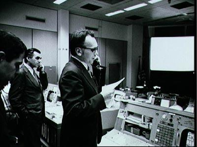 In 1973, Czech astronomer Dr. Lubos Kohoutek discovered a comet called C/1973 E1, which is known to the world as Comet Kohoutek. Here he is shown early the next year at NASA's Mission Control Center in Houston talking to the crew of the Skylab space station.