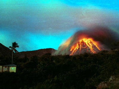 In this gallery, we take a look at some stunning images of weather gone wild, starting with the Soufriere Hills volcano on the Caribbean island of Montserrat. It first erupted in 1995 and is still going strong.
