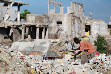 The devastating January 2010 earthquake in Port-au-Prince, Haiti, left more than 200,000 people dead and around 1.5 million homeless. It will take years for the country to rebuild. On the next page, you'll see the output of sophisticated earthquake monitoring equipment.