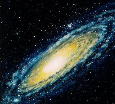 The Milky Way galaxy is about 120,000 light years across. See the Milky Way from a different angle on the next page.