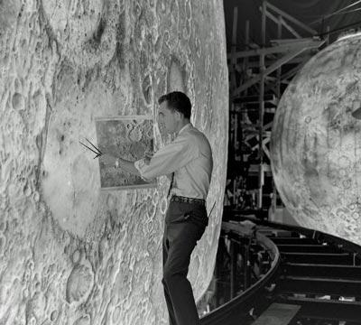 "Before the summer of 1969, humanity looked at the moon only from afar. NASA's elaborate training program for putting astronauts on the moon included the Lunar Orbit and Landing Approach system, or Project LOLA, at the Langley Research Center in Virginia. Painted replicas of the lunar surface were designed to simulate the views pilots would have when approaching the moon. ""Unfortunately, such a simulation -- although great fun and quite aesthetic -- was not helpful,"" concludes James R. Hansen, Auburn University professor and author of Spaceflight Revolution: NASA Langley Research Center From Sputnik to Apollo. Next, see one of an astronaut's first views of the moon up close."