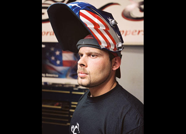 Paul Teutul Jr. from American Chopper's early days. The series pilot, Jet Bike, premiered in September 2002, if you can believe it.
