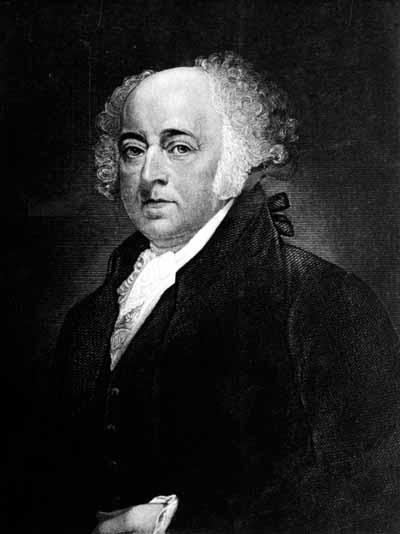 Founding Father and American statesman John Adams served as the second U.S. president after two terms as vice president. See Thomas Jefferson in the next image.