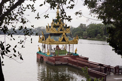Shrines are holy sites that are usually devoted to the memory or example of a particular saint, prophet, deity or other religious figure. The shrine above, located at Kandawgyi Lake in Burma, is dedicated to a Buddhist figure known as Shin Upagutta, who is believed to live in a seaborne palace and to protect the local people from disasters such as floods. Read on for more images of shrines from around the world.