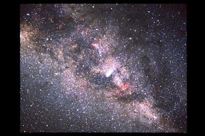 While the universe is filled to the brim with galaxies, there's only one that we call home: the Milky Way galaxy. It's its own little universe, if you will, containing hundreds of billions of stars, dust and gas, all held in place by gravity. If you want to see it, just look up at the night sky. When the night is clear enough, the fuzzy patch of light stretching across the sky is the band of the Milky Way. In fact, almost all of what you see up there is part of our galaxy. Closer to the present moment, though, if you want to see more of the Milky Way, just step through this gallery.