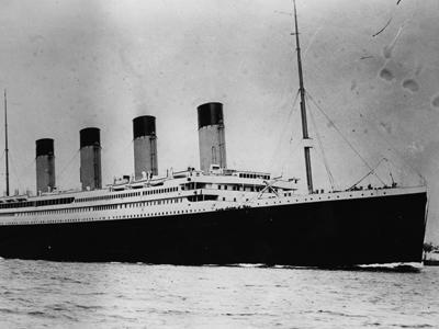 This is the ill-fated White Star liner RMS Titanic, which struck an iceberg and sank on her maiden voyage across the Atlantic. The sinking of the Titanic is one of the most famous accidents of the 20th century -- click ahead for more pictures of the ship and its story.