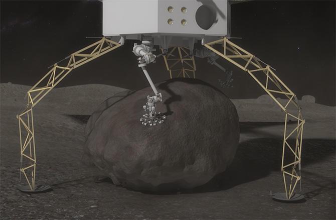 NASA plucking a boulder