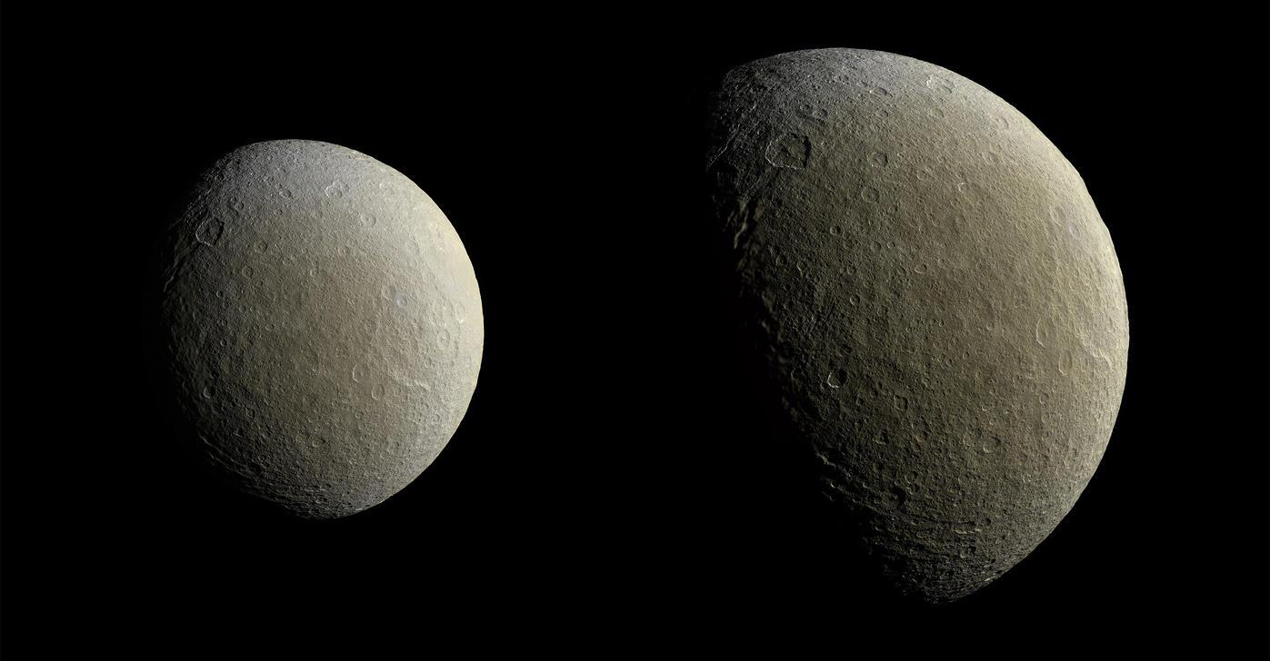 Cassini's view of Rhea