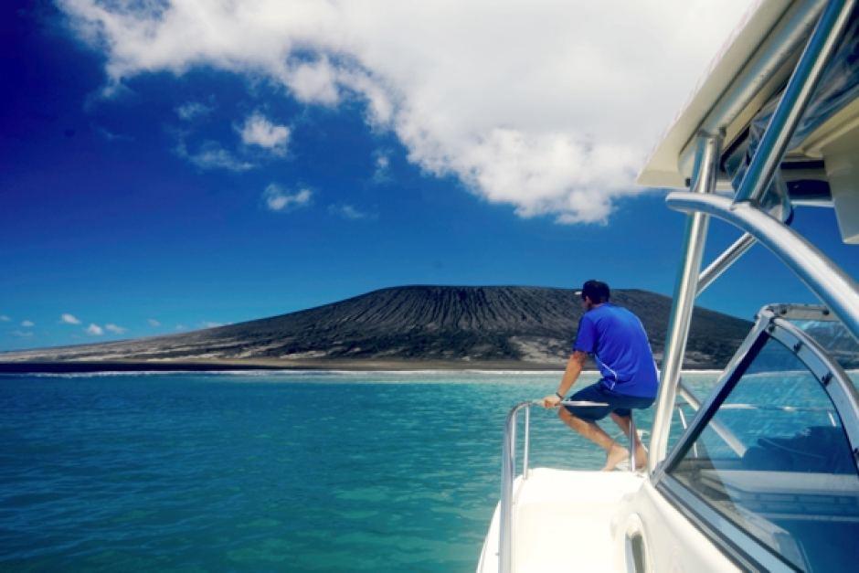 New island near Tonga