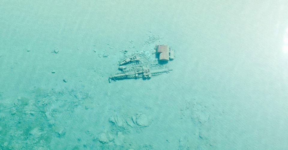 Shipwreck in Lake Michigan