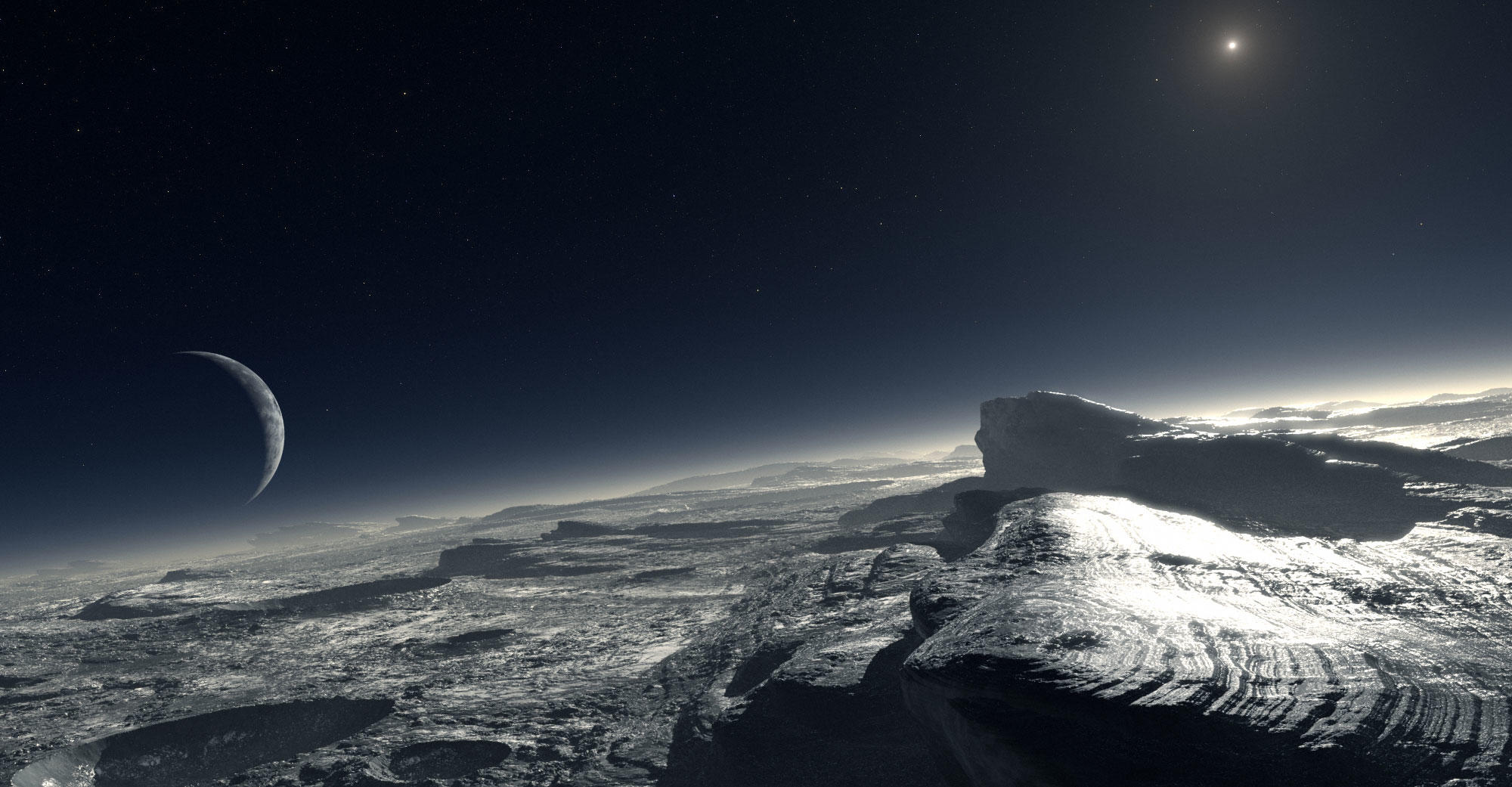 Artist impression of Pluto's surface