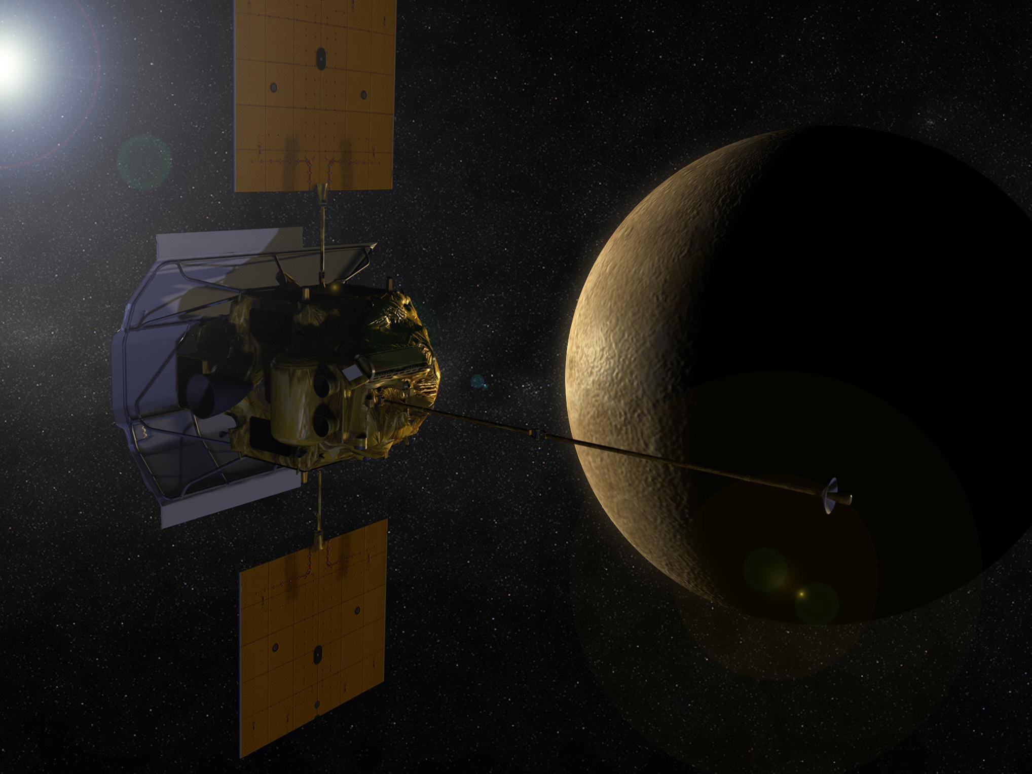 Artist concept of MESSENGER probe