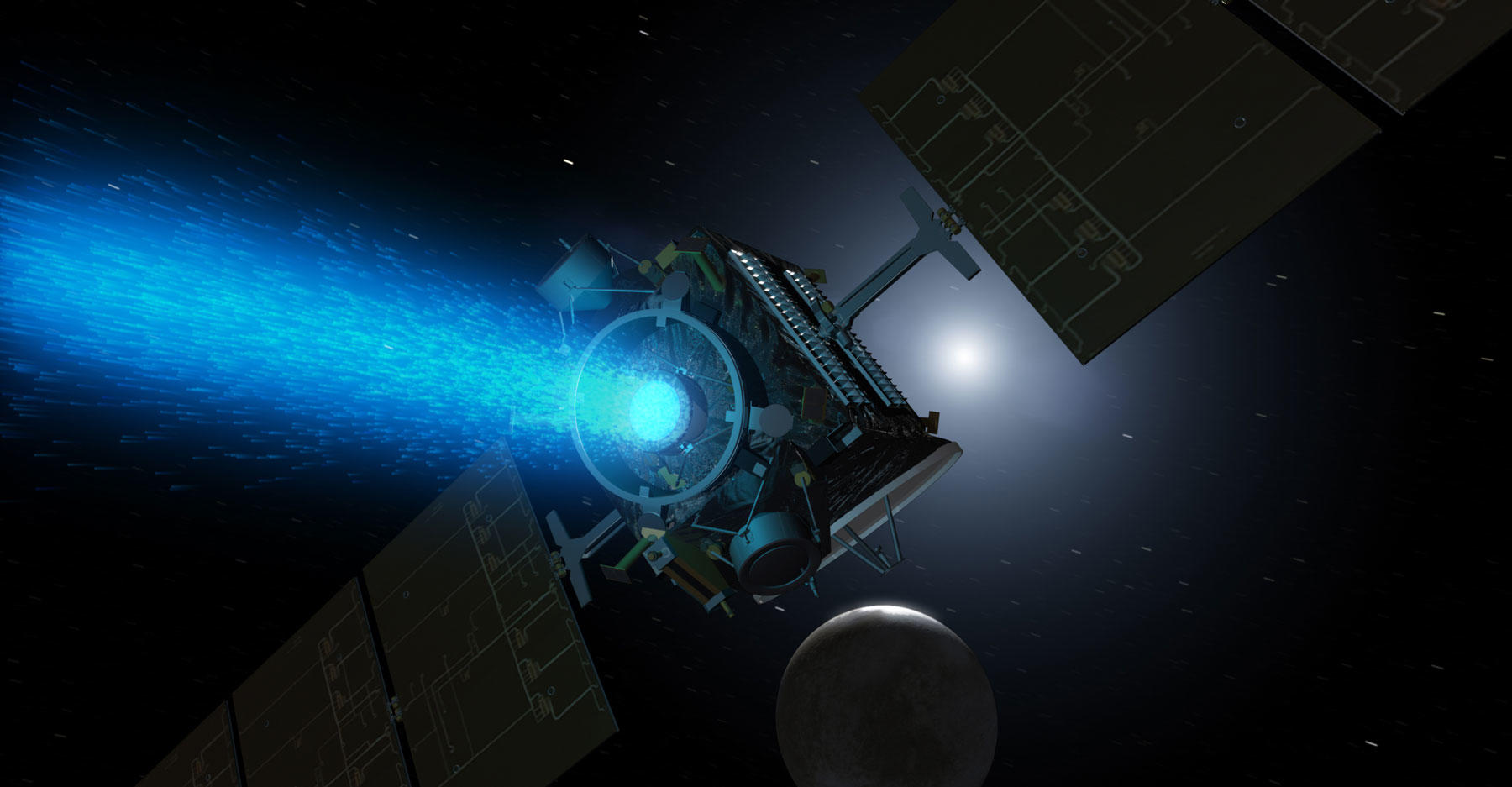 Dawn spacecraft approaching Ceres