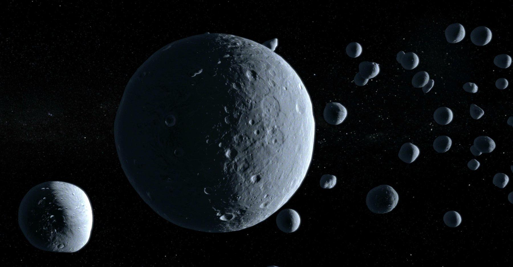The Kuiper belt.
