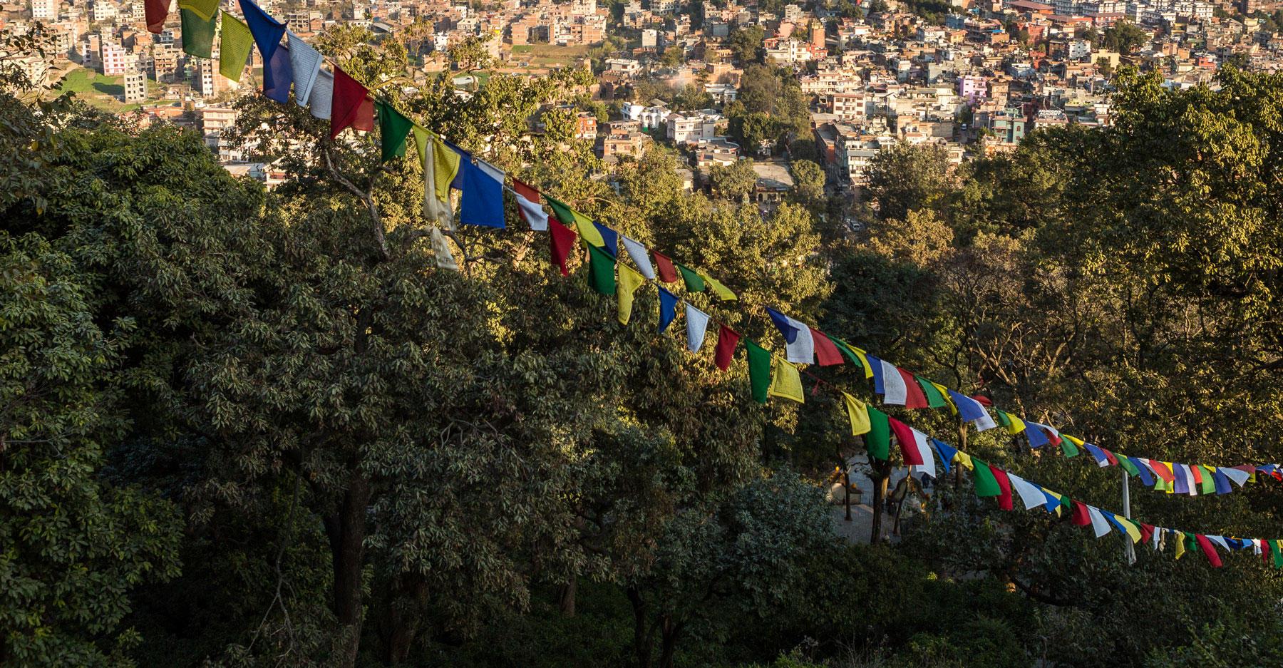 Prayer flags over Kathmandu