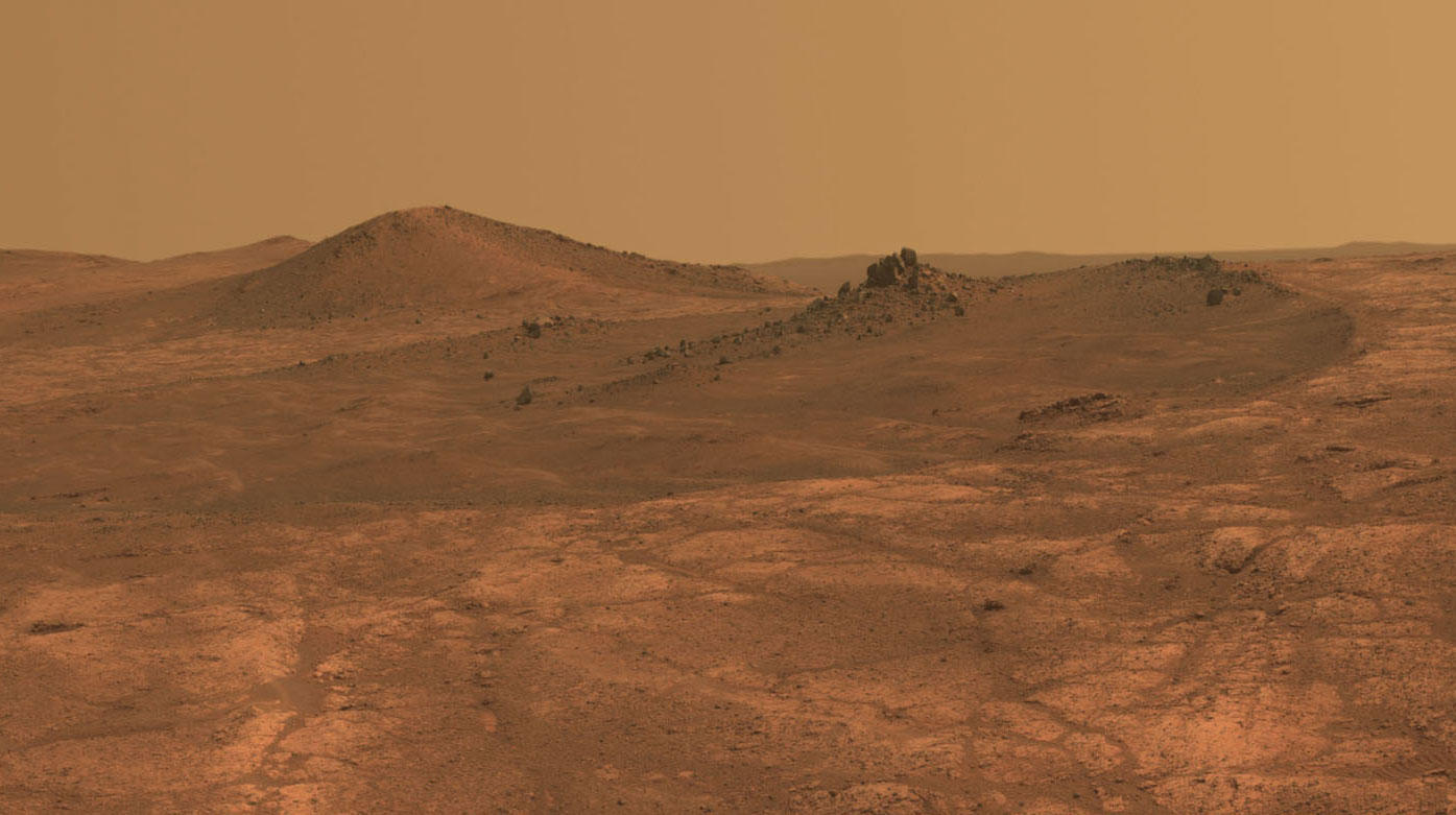 Rock spire on Mars