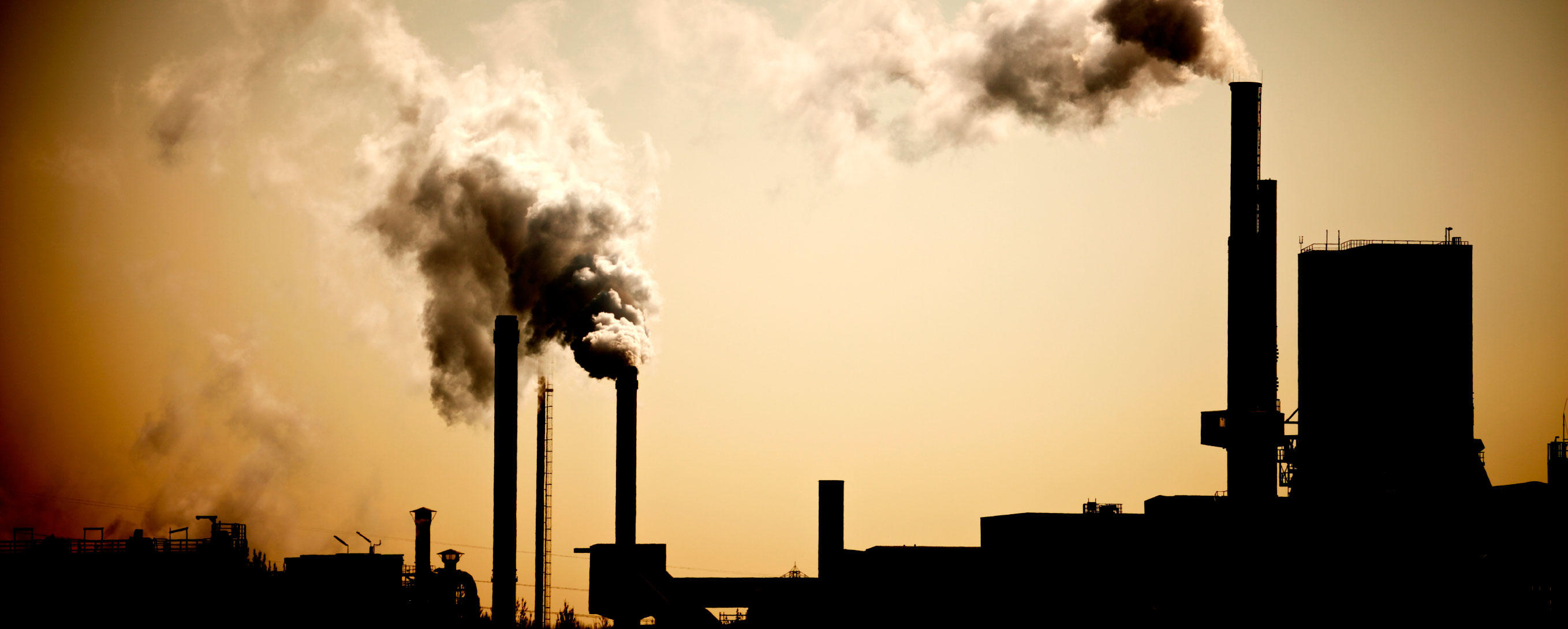 Industry chimney and exhaust fumes