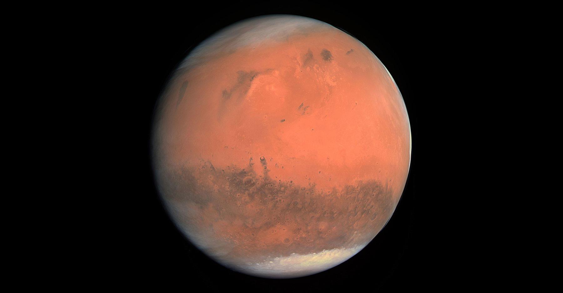 TRUE-COLOUR IMAGE OF MARS SEEN BY OSIRIS