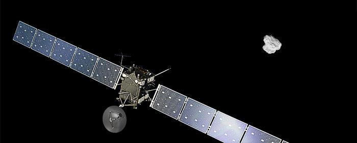 Rosetta approaches comet (artist impression)