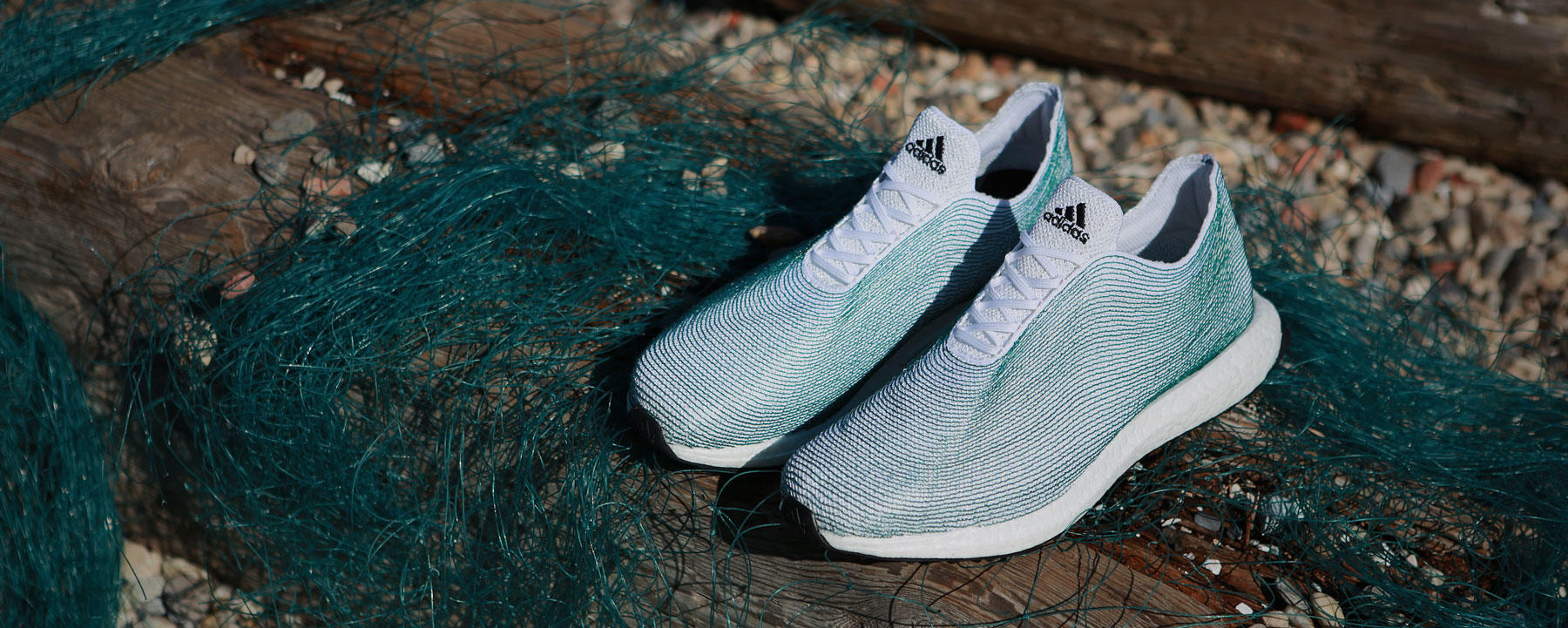 Shoes made from plastic pollution