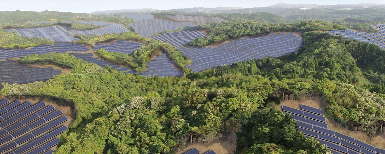 Golf course solar power plants