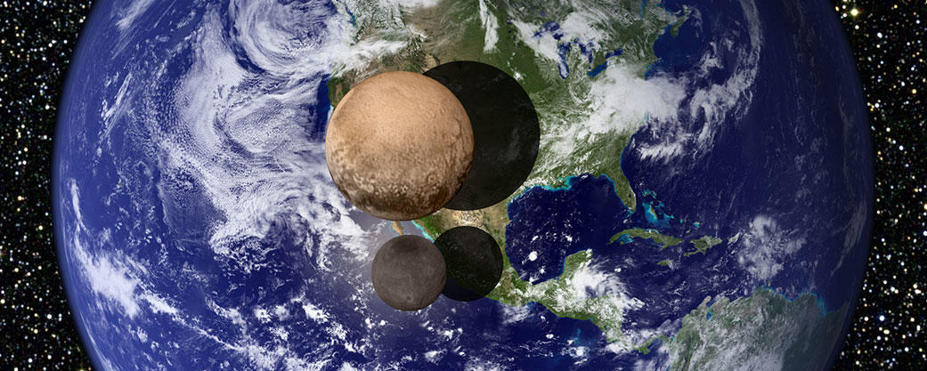 Pluto size comparison