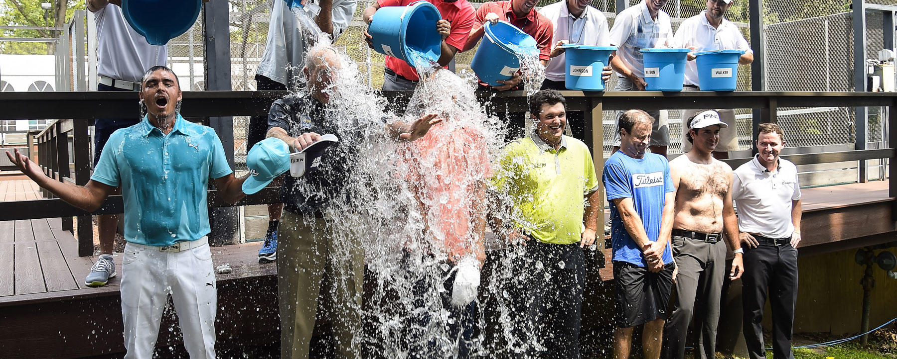 PGA golfers take the Ice Bucket Challenge