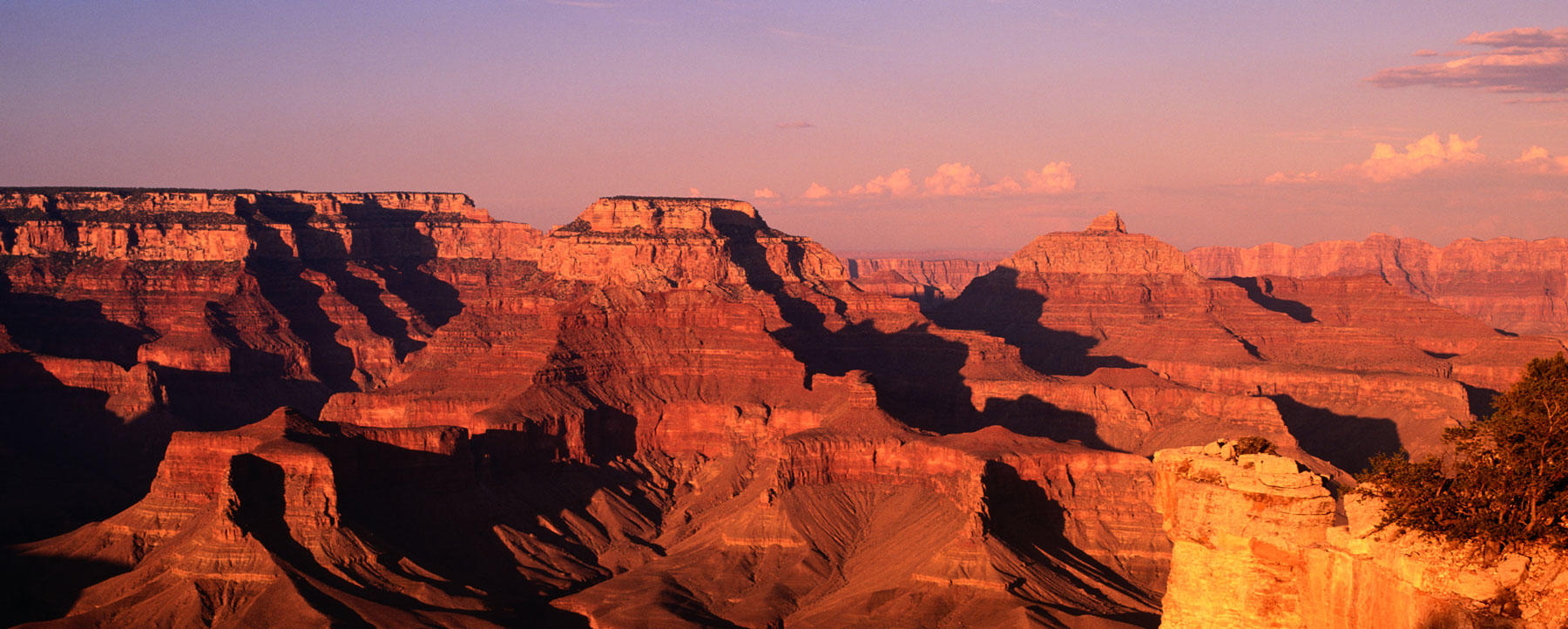 Panoramic of Grand Canyon National Park in Arizona.