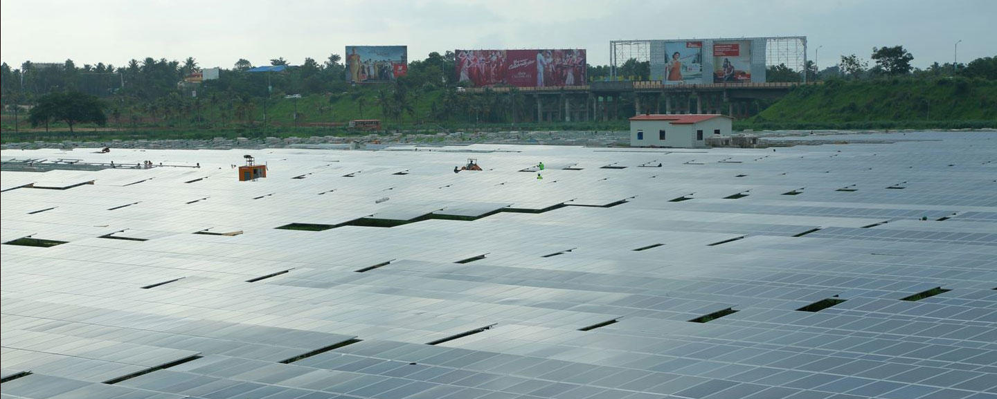 Solar panels at Cochin Intl Airport