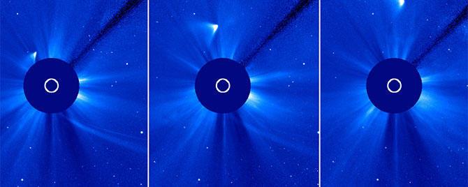 Comet ISON flareup