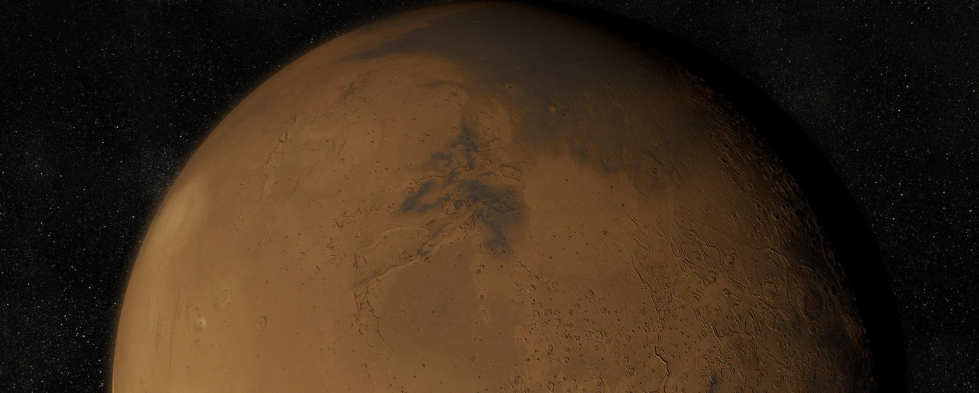 The red planet Mars, which has captivated human imagination since the ancient Babylonians.