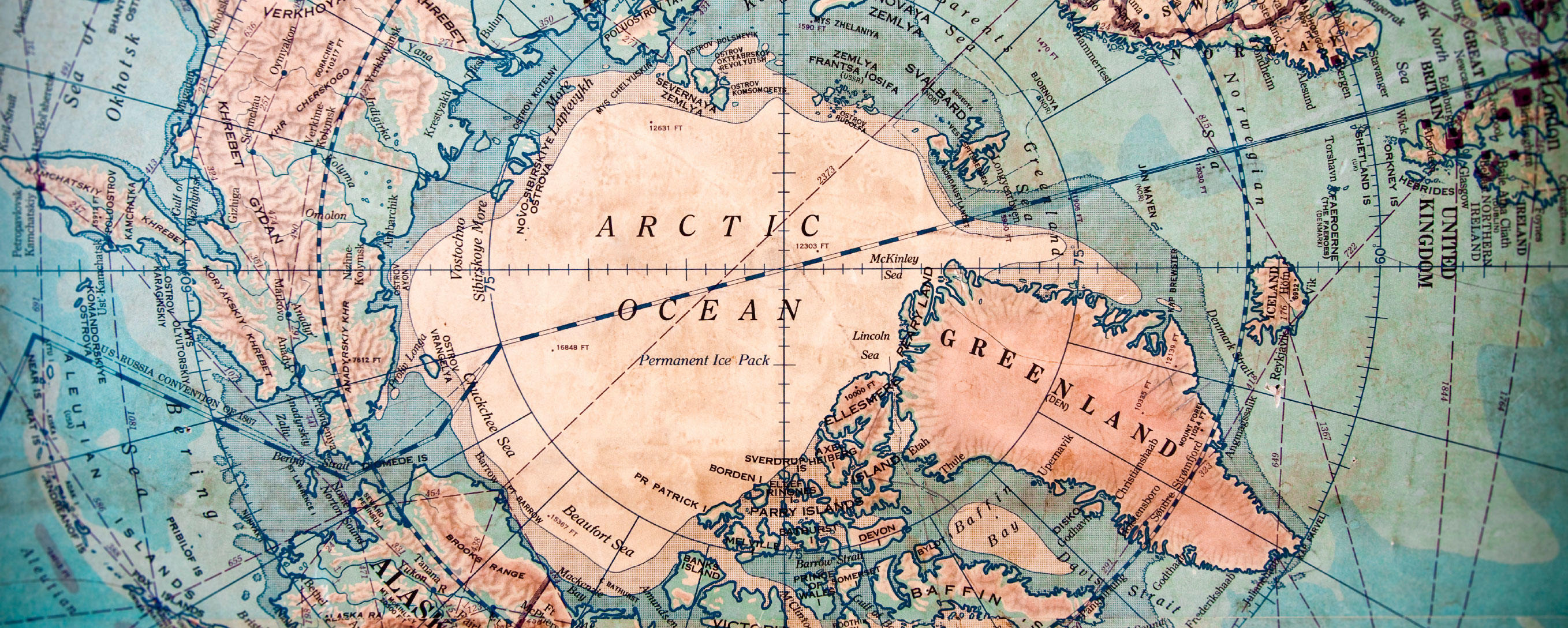 Map of the North Pole
