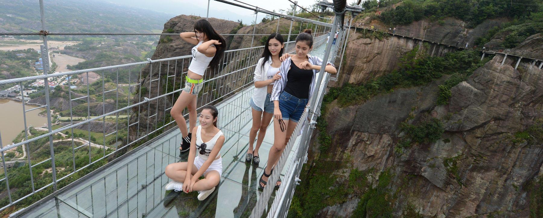 Visitors on Brave Man's Bridge