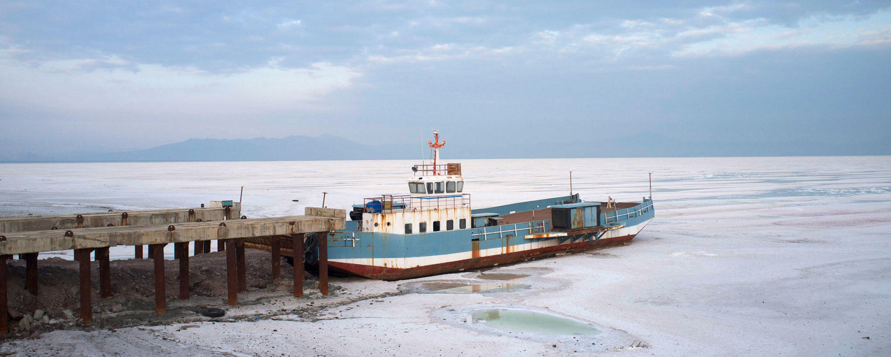 Lake Urmia dries up