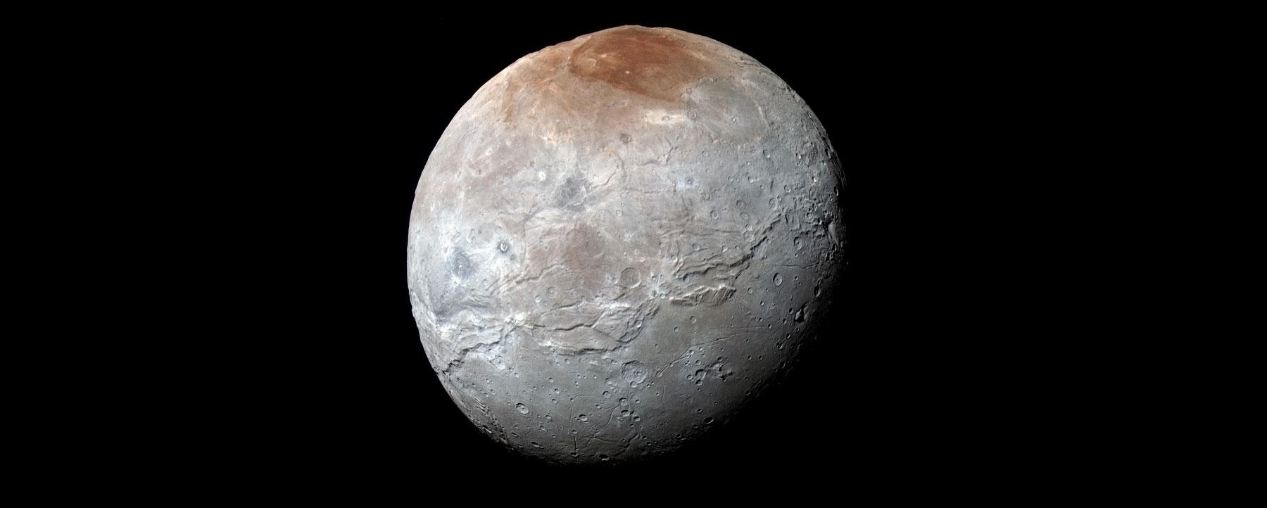 Charon Moon: Pluto's Moon Charon Is Battered, Bruised And Beautiful
