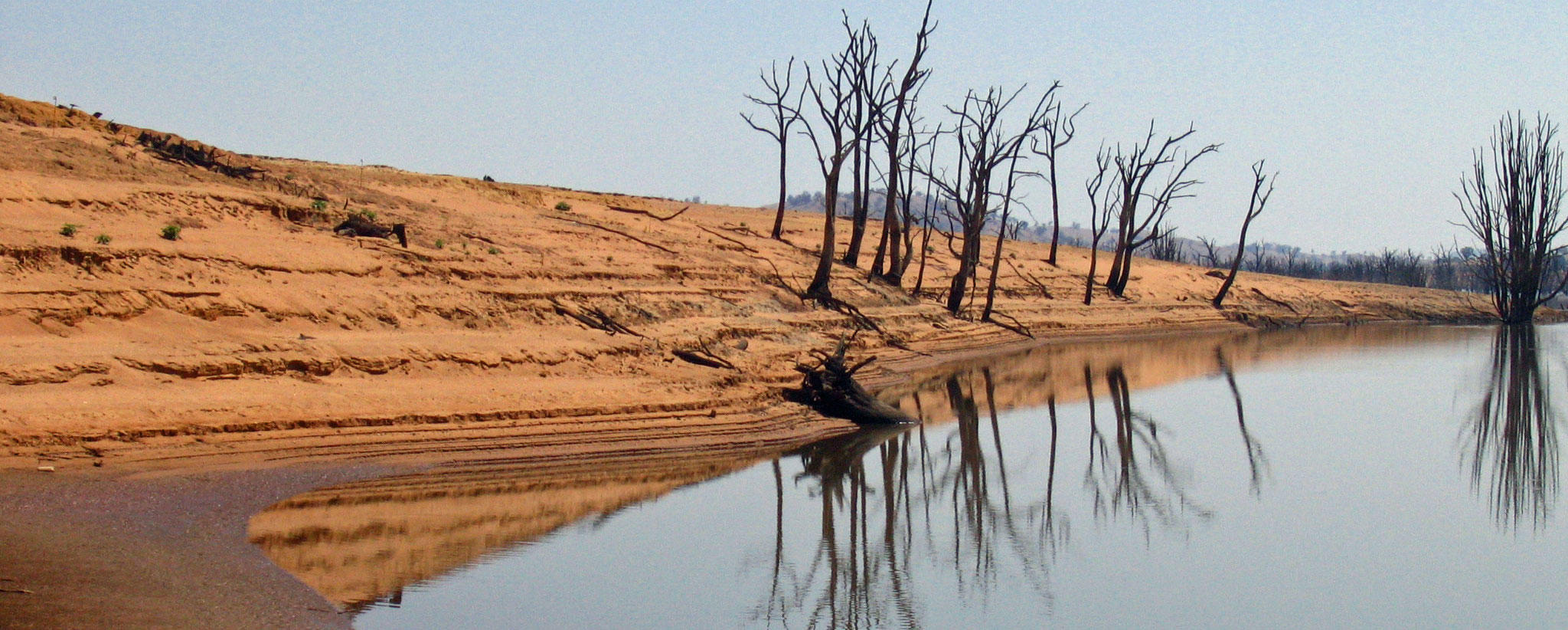 Lake Hume in drought