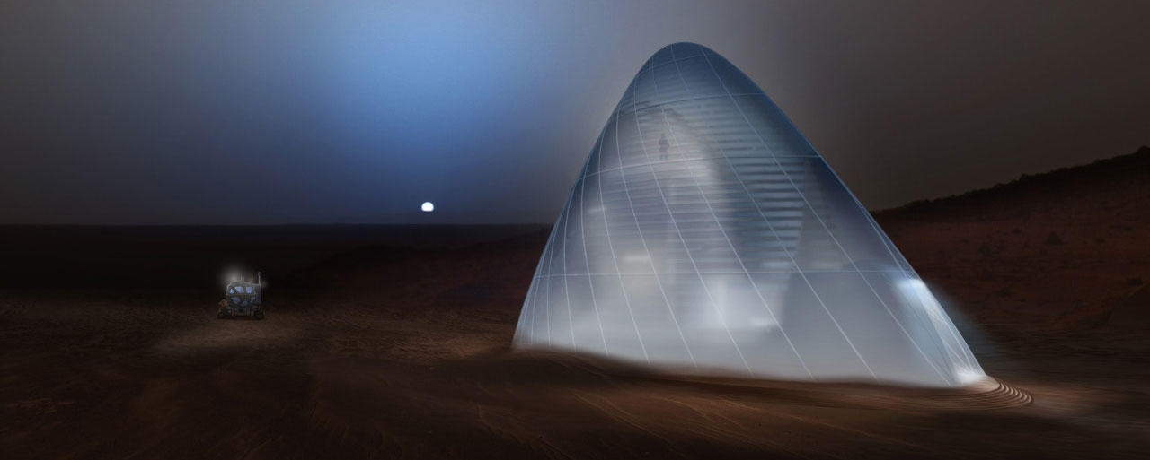 Mars ice house concept
