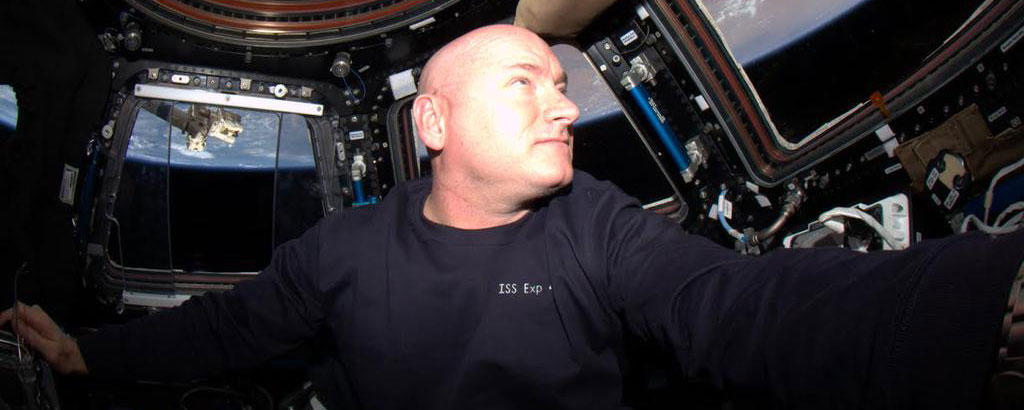Scott Kelly in the ISS