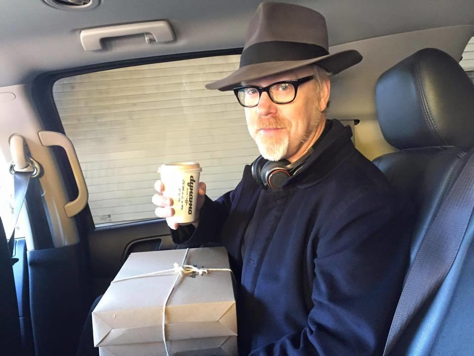 Adam Savage With Donuts For The Crew