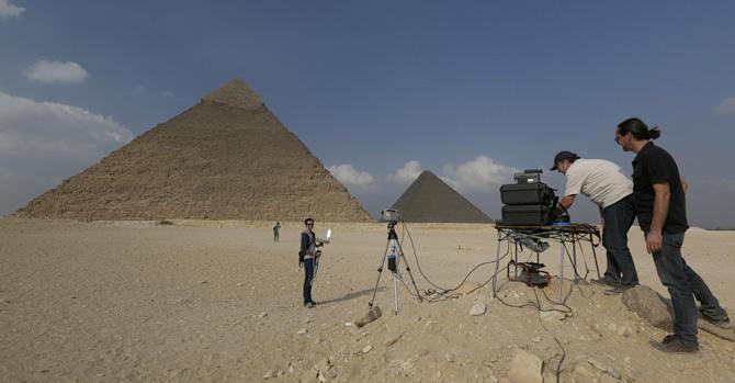Giza Pyramid scanning